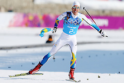 The XXII Winter Olympic Games 2014 in Sotchi, Olympics - Olympische Winterspiele Sotschi 2014, Men's 4x10km Relay Cross-Country, Hellner Marcus / SWE at finish, *** Local Caption *** © pixathlon