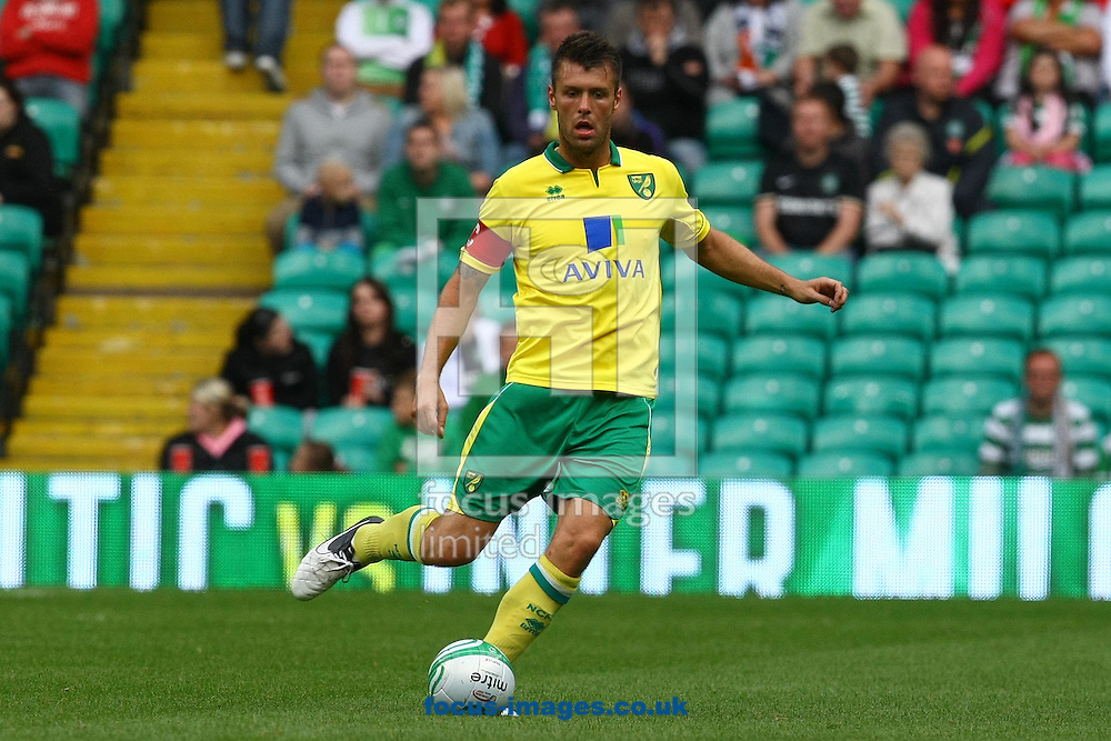 Picture by Paul Chesterton/Focus Images Ltd +44 7904 640267.24/07/2012.Elliot Ward of Norwich in action during the Friendly match at Celtic Park, Glasgow.
