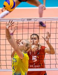 24-08-2017 NED: World Qualifications Belgium - Slovenia, Rotterdam<br /> Laura Heyrman #5 of Belgium<br /> Photo by Ronald Hoogendoorn / Sportida