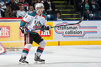 KELOWNA, CANADA - MARCH 23: Mitchell Wheaton #6 of the Kelowna Rockets skates against the Tri-City Americans on March 23, 2014 at Prospera Place in Kelowna, British Columbia, Canada.   (Photo by Marissa Baecker/Shoot the Breeze)  *** Local Caption *** Mitchell Wheaton;