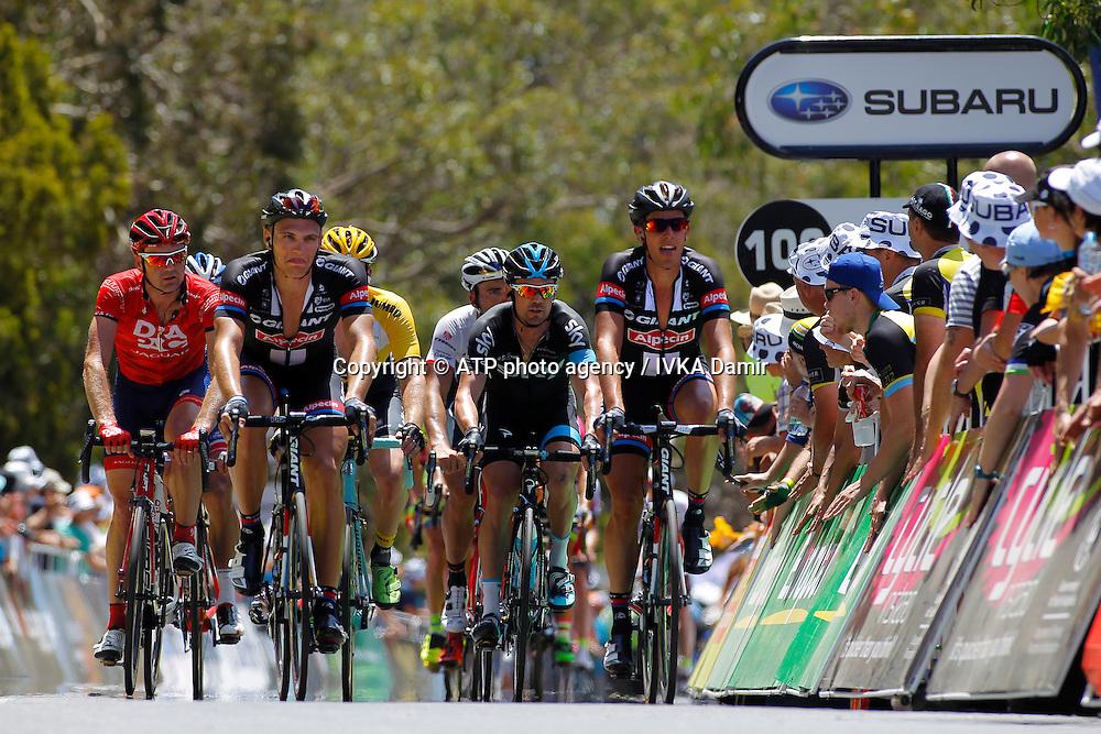 2015 Santos Tour Down Under. Adelaide. Australia. 24.1.2015. Stage 5. Mc Laren Vale to Willunga Hill.151.5km<br /> #21 Marcel KITTEL (GER) Team GIANT-ALPECIN (NED). 2nd from left<br /> - Tour Down Under Australia 2015, Cycling, road race, Radrennen, Australien -  Radsport - Rad Rennen <br /> - fee liable image: copyright &copy; ATP - IVKA Damir