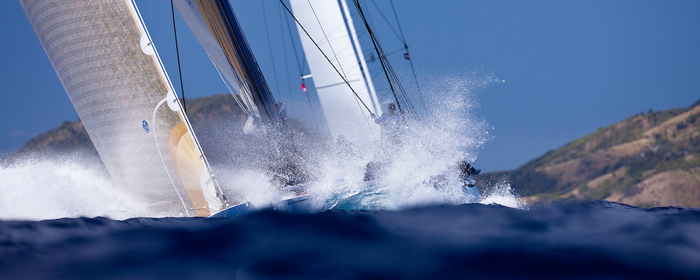 Ranger, J Class, sailing in The Superyacht Cup regatta, race one.