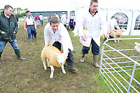 "Darragh McManamon from Newport with a Texel at Sheep 2012 ""The Way Forward""  at Teagasc, Mellows Campus, Athenry, Co. Galway Photo: Andrew Downes.."