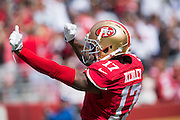 San Francisco 49ers wide receiver Jeremy Kerley (17) celebrates after a touchdown against the Dallas Cowboys at Levis Stadium in Santa Clara, Calif., on October 2, 2016. (Stan Olszewski/Special to S.F. Examiner)