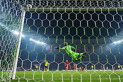 November 17, 2018 - Konya, TURKEY - 181117 Goalkeeper Sinan Bolat of Turkey makes a save during the Nations League football match between Turkey and Sweden on November 17, 2018 in Konya..Photo: Joel Marklund / BILDBYRN / kod JM / 87808 (Credit Image: © Joel Marklund/Bildbyran via ZUMA Press)