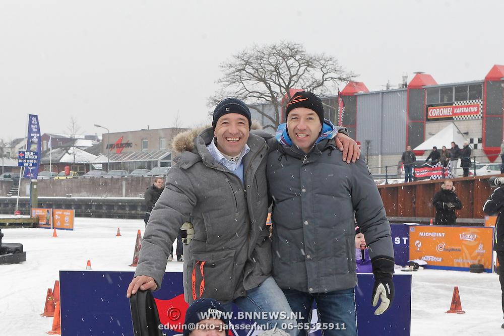 NLD/Huizen/20120212 - Broers tim en Tom Coronel organiseren ijskarten in de haven van Huizen,