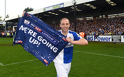 Mark McChrystal of Bristol Rovers celebrates promotion from Sky Bet League 2 up to Sky Bet League 1  - Mandatory by-line: Joe Meredith/JMP - 07/05/2016 - FOOTBALL - Memorial Stadium - Bristol, England - Bristol Rovers v Dagenham and Redbridge - Sky Bet League Two