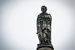 Edinburgh, Scotland, UK. 9 June 2020. Following the Black Lives Matter protests, anti racism campaigners have targeted statues of historical figures who were allegedly involved in the slave trade. The statue of Henry Dundas, the first Viscount Melville in St Andrew Square has been targeted by politicians who want it removed. Iain Masterton/Alamy Live News