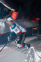 KELOWNA, CANADA - APRIL 3: Carter Rigby #11 of the Kelowna Rockets enters the ice against the Seattle Thunderbirds on April 3, 2014 during Game 1 of the second round of WHL Playoffs at Prospera Place in Kelowna, British Columbia, Canada.   (Photo by Marissa Baecker/Getty Images)  *** Local Caption *** Carter Rigby;