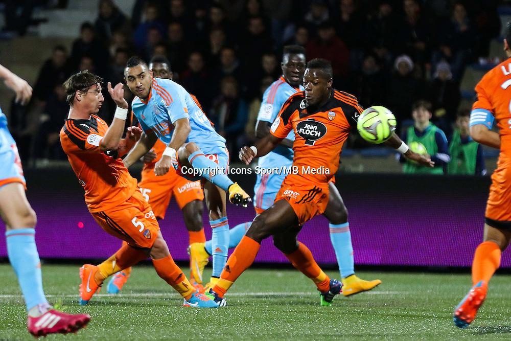 Goal Dimitri PAYET - 02.12.2014 -  Lorient / Marseille - 16eme journŽe de Ligue 1 <br />Photo : Vincent Michel / Icon Sport
