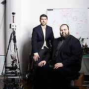 Robin Van Der Zwan and Brian Colin, founders of Virtual APT, inside of their offices at 45 Main St., DUMBO, Dec. 6, 2016.<br /> Yvonne Albinowski/For Commercial Observer