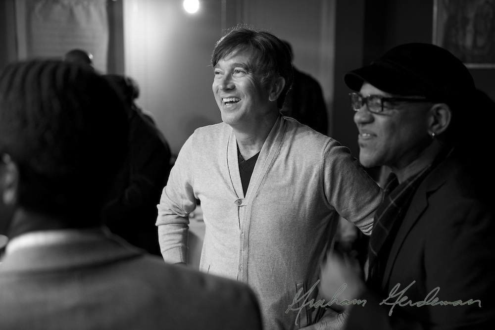 Trumpeter Rick Braun and pianist DeMarco Johnson share a laugh.
