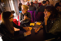 Rome, Italy - December 11, 2014: Patrons share a laugh over drinks at Co.So. Cocktails and Social in Rome's hip Pigneto neighborhood.  CREDIT: Chris Carmichael for The New York Times