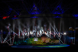August 18, 2018 - Jakarta, Jakarta, Indonesia - Jakarta, Indonesia, 18 August 2018 : Opening Ceremonial of 18th Asian Games ceremonial at Senayang Sport Center-Jakarta-Indonesia. (Credit Image: © Donal Husni via ZUMA Wire)
