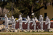 Statue of prison labor outside the Old Jail in St. Augustine, Florida.