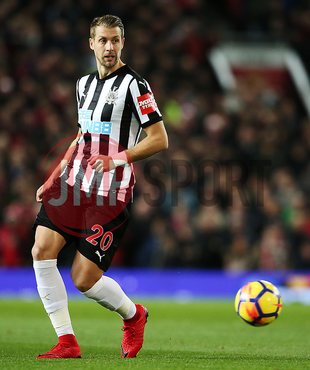 Florian Lejeune of Newcastle United - Mandatory by-line: Matt McNulty/JMP - 18/11/2017 - FOOTBALL - Old Trafford - Manchester, England - Manchester United v Newcastle United - Premier League