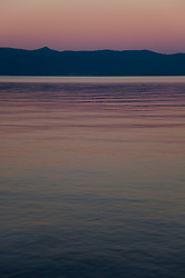 """""""Sunset at Lake Tahoe 5"""" - This peaceful sunset was photographed from the West shore of Lake Tahoe, California."""