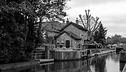 "Maidenhead, United Kingdom.  ""General View Boulters Lock Keepers' Cottage and associated buildings"", Cookham Reach, River Thames between Boulters Lock and Lower Cookham, view from the riverside path, <br /> <br /> Friday  22/05/2015<br /> <br /> © Peter SPURRIER<br /> Panasonic  DMC-LX100  f7.1  1/80sec  50mm  4.1MB"