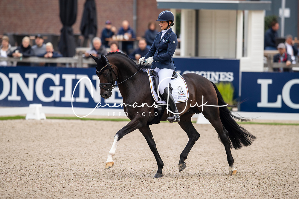 Wolf Stefanie, GER, For Gold OLD<br /> World Championship Young Dressage Horses - Ermelo 2019<br /> © Hippo Foto - Dirk Caremans<br /> Wolf Stefanie, GER, For Gold OLD