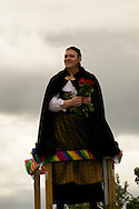 Jón Gnarr Mayor of Reykjavik dressed in womens national costume at Reykjavik Gay Pride parade.