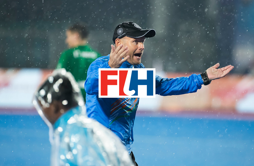 BHUBANESWAR -  Hockey World League finals , Semi Final . Argentina v India. coach Sjoerd Marijne (Ind).  COPYRIGHT KOEN SUYK