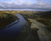 AA0196-03...NORTH DAKOTA - Little Missouri River running through Theodore Roosevelt National Park.