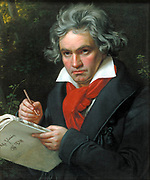 Ludwig van Beethoven (16 December 1770- 26 March 1827) was a German composer and pianist. He was a crucial figure in the transitional period between the Classical and Romantic eras in Western classical music, and remains one of the most acclaimed and influential composers of all time.   Portrait of Beethoven in 1818 by August Klöber