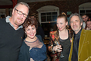 ED BYE;  RUBY WAX; JUDITH OWEN; HARRY SHEARER, Gala performance of  RUBY WAX- LOSING IT  in aid of  Comic Relief. Menier Theatre. London. 23 February 2011. -DO NOT ARCHIVE-© Copyright Photograph by Dafydd Jones. 248 Clapham Rd. London SW9 0PZ. Tel 0207 820 0771. www.dafjones.com.