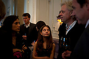 FATIMA BHUTTO; TIGER LILY;; SIR BOB GELDOF, Henry Porter hosts a launch for Songs of Blood and Sword by Fatima Bhutto. The Artesian at the Langham London. Portland Place. 15 April 2010. *** Local Caption *** -DO NOT ARCHIVE-© Copyright Photograph by Dafydd Jones. 248 Clapham Rd. London SW9 0PZ. Tel 0207 820 0771. www.dafjones.com.<br /> FATIMA BHUTTO; TIGER LILY;; SIR BOB GELDOF, Henry Porter hosts a launch for Songs of Blood and Sword by Fatima Bhutto. The Artesian at the Langham London. Portland Place. 15 April 2010.
