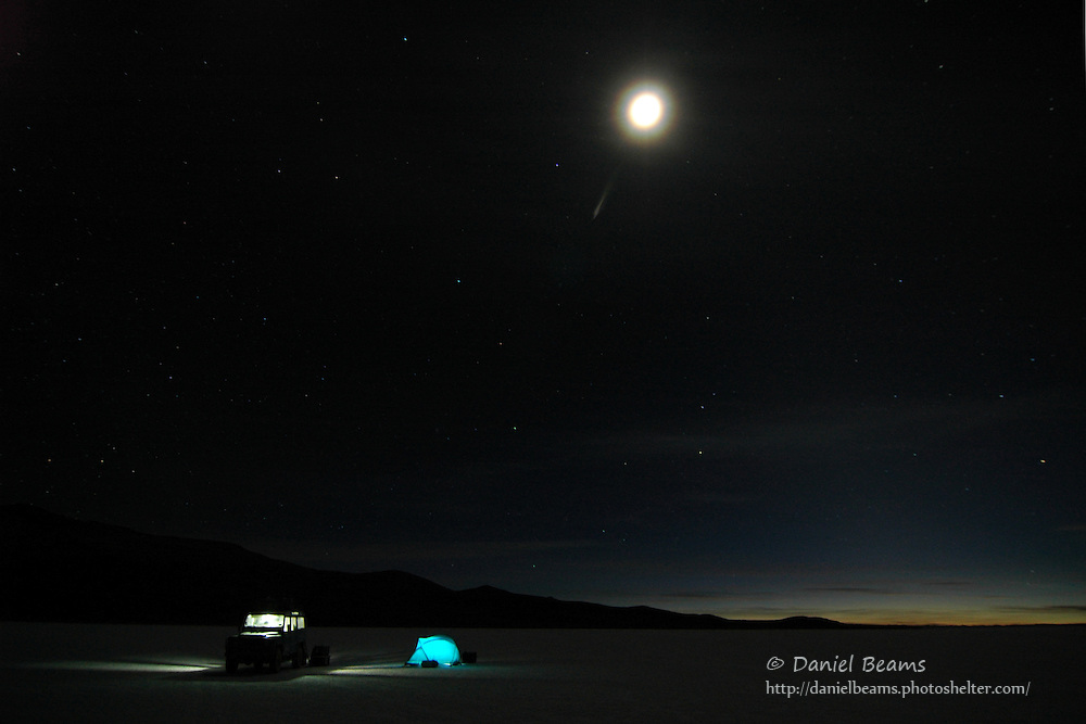 Camping on the Salar de Uyuni, Potosi, Bolivia