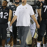 ORLANDO, FL - AUGUST 29: Head coach Josh Heupel of the UCF Knights is seen during a NCAA football game between the Florida A&M Rattlers and the UCF Knights on August 29 2019 in Orlando, Florida. (Photo by Alex Menendez/Getty Images) *** Local Caption *** Josh Heupel