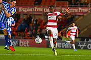 Doncaster Rovers forward Niall Ennis (31) during the EFL Sky Bet League 1 match between Doncaster Rovers and Blackpool at the Keepmoat Stadium, Doncaster, England on 17 September 2019.