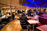 Bar area people at tables Stena Hollandica ferry