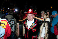 The House of Switzerland gets ready to celebrate the second gold medal by ski jumper Simon Ammann during the 2010 Olympic Winter Games in Whistler, BC Canada.