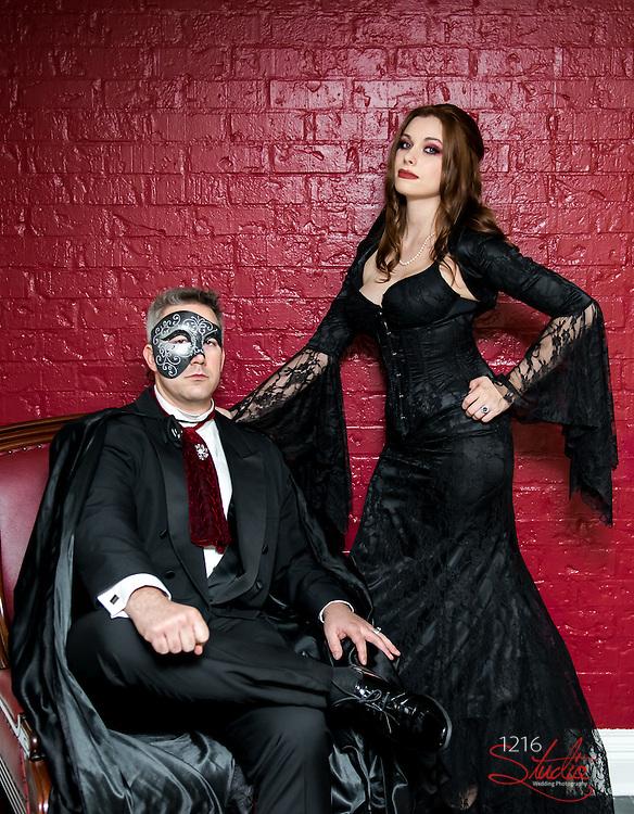 Luke & Christina Wedding Album - 2015 Halloween Wedding Second Line 1216 Studio New Orleans Wedding Photography