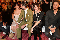 Left to right, DAISY LOWE, JACK GUINNESS and JASMINE GUINNESS at the LDNY Fashion Show and WIE Award Gala sponsored by Maserati held at The Goldsmith's Hall, Foster Lane, City of London on 27th April 2015.