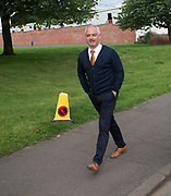 August 9th 2017, Dens Park, Dundee, Scotland; Scottish League Cup Second Round; Dundee versus Dundee United; Dundee United boss Ray McKinnon makes the short walk from Tannadice to Dens Park
