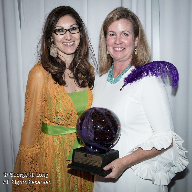 Miranda Restovic and Christina Melton at Louisiana Endowment for the Humanities Bright Lights Awards Dinner at Popp Fountain in City Park of New Orleans on May 10, 2018