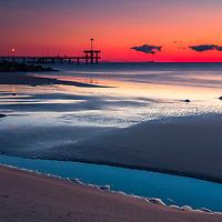 Burgas beach in November at twilight