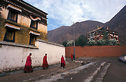 Streets of the monastery..LAMBRANG MONASTERY IN XIAHE - CHINA.copyright: Androniki Christodoulou.