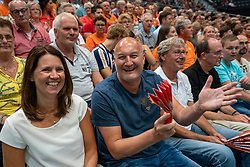 11-08-2019 NED: FIVB Tokyo Volleyball Qualification 2019 / Netherlands - USA, Rotterdam<br /> Final match pool B in hall Ahoy between Netherlands vs. United States (1-3) and Olympic ticket  for USA / Orange support, fans,