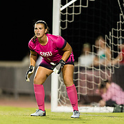 16 September 2018: The San Diego State Aztecs women's soccer team dropped a touch match to #8 UCLA tonight 3-0 at the SDSU Sports Deck.<br /> More game action at sdsuaztecphotos.com