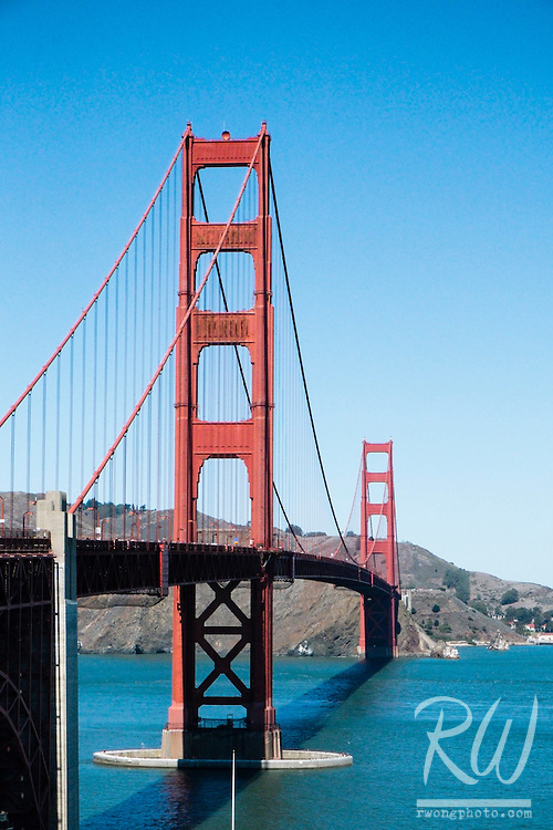 The Golden Gate Bridge on a Sunny Day, San Francisco, California