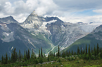Mount Sir Donald and the Illecillewaet Glacier. Selkirk Mountains Glacier National Park British Columbia