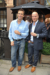 Left to right, Skiier GRAHAM BELL and polar explorer BEN SAUNDERS at the launch of the Bremont Boutique, 29 South Audley Street, London on 17th July 2012.