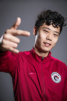 Portrait of Chinese soccer player Liu Shangkun of Liaoning Whowin F.C. for the 2017 Chinese Football Association Super League, in Foshan city, south China's Guangdong province, 24 January 2017.