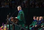 Ohio University President M. Duane Nellis speaks at undergraduate commencement. Photo by Ben Siegel