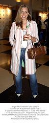 Singer MELANIE BLATT at a party in London on 4t September 2003.PME 4