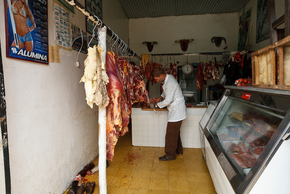 A traditional butcher's shop, Salento, Quindio, Colombia