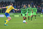 Forest Green Rovers Keanu Marsh-Brown(7) runs forward during the Vanarama National League match between Forest Green Rovers and Torquay United at the New Lawn, Forest Green, United Kingdom on 1 January 2017. Photo by Shane Healey.